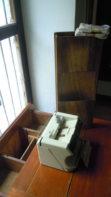 One of Escobar's desks, with lots of secret compartments for hiding guns and money.